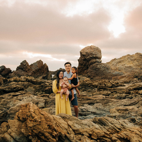 The Yuan Family's Portraits at the Beach, by Orange County Family Photographer, Lana Tavares