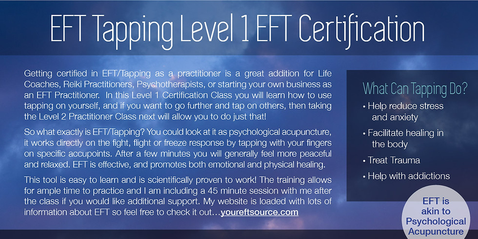 EFT Tapping Level 1 Certification