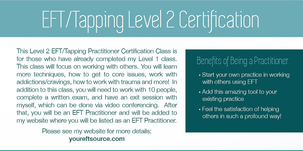 EFT Tapping Level 2 Certification