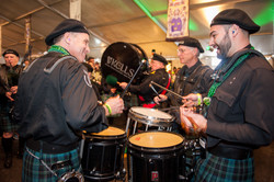 Kells Drummers and Bagpipers