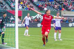 Christine Sinclair goal Celebration