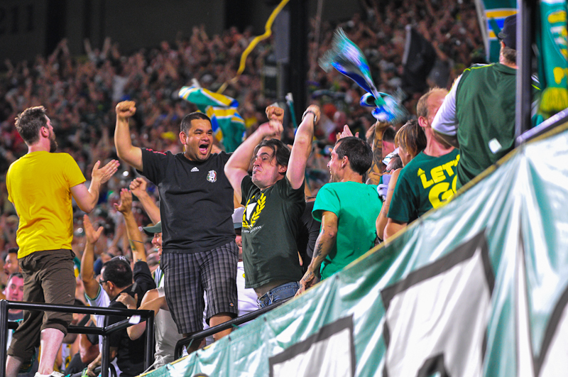 Timbers Army 105 section
