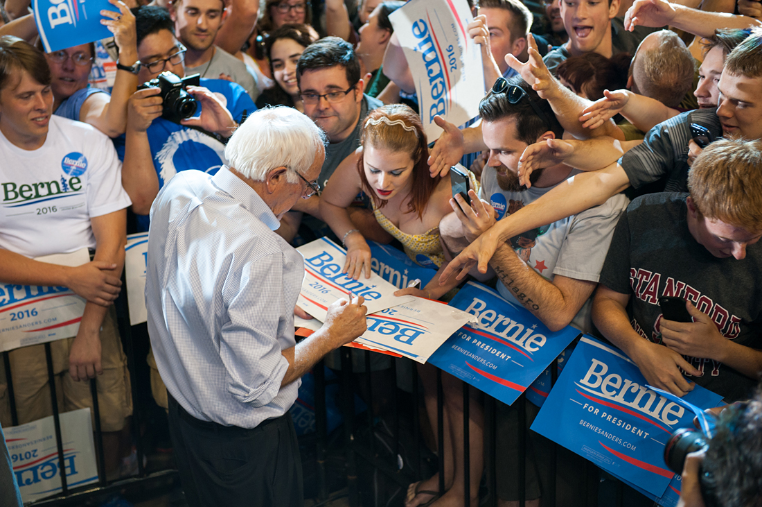 Bernie Sanders in Portland