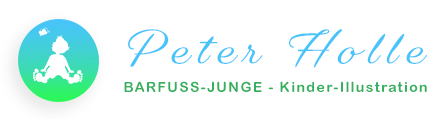 Logo Peter Holle | BARFUSS-JUNGE - Kinder-Illustration