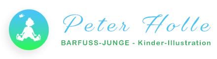 Logo Peter Holle | BARFUSS-JUNGE - Kinder-Illustration