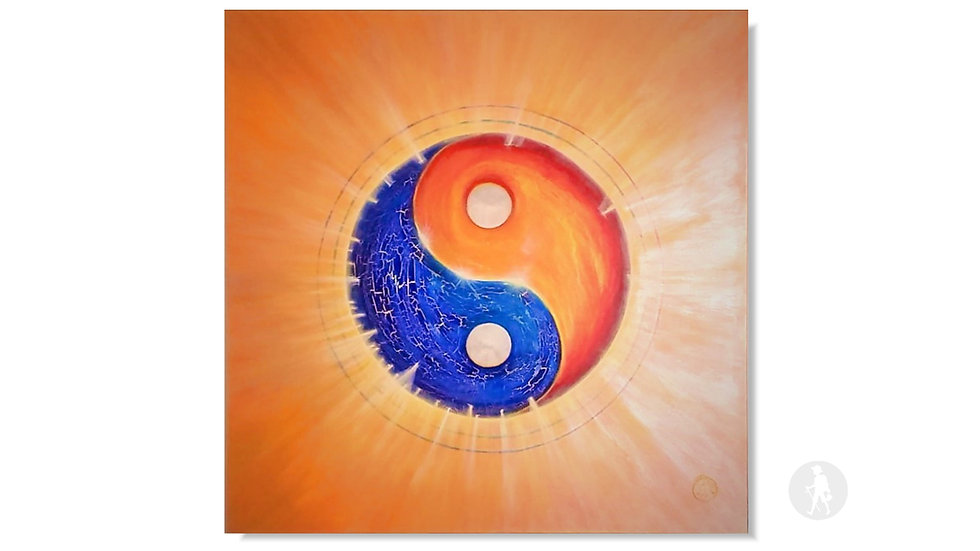 """Yin und Yang - Verschmelzung"" (Acryl auf Leinwand)"