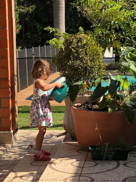 My niece says she'll be a gardener one day!