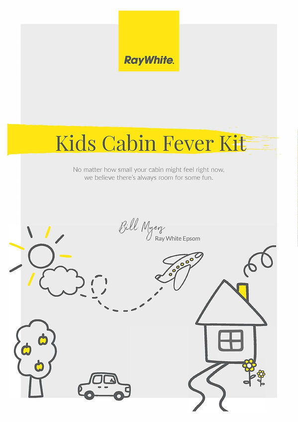 A4 12page Cabin Fever for Kids Book-page
