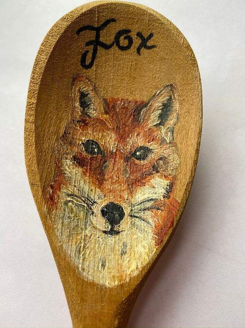 Hand Painted Wooden Spoon - FOX