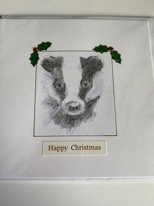 Christmas Card - Badger
