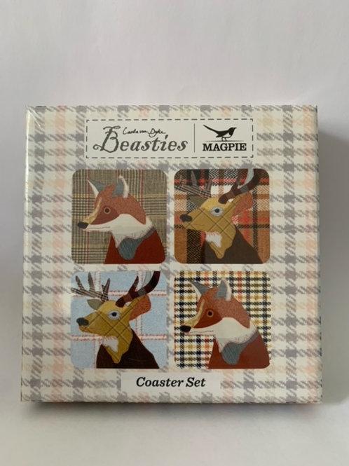 Beasties Coasters Pack 4