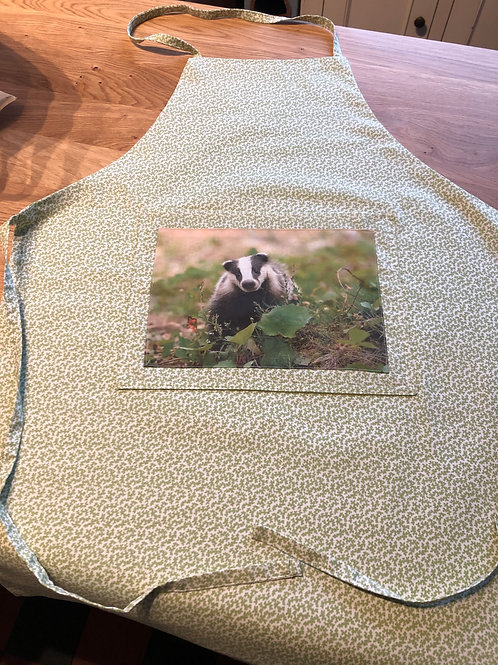 Handmade Apron with badger