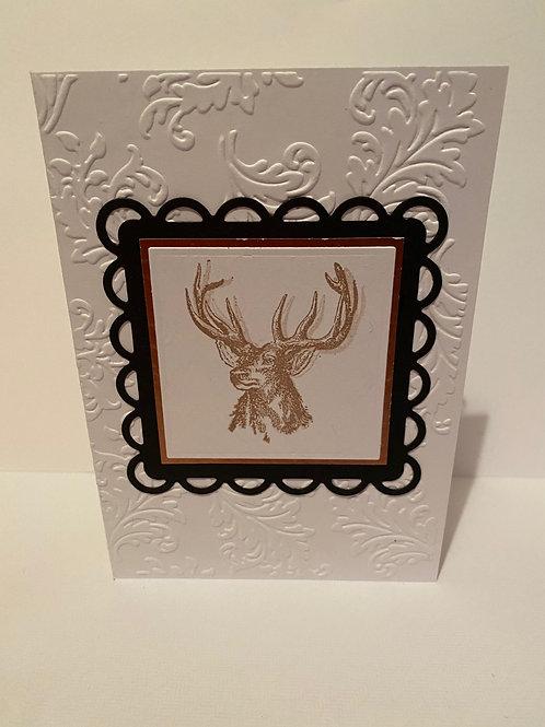 Handmade Stag Greeting Card