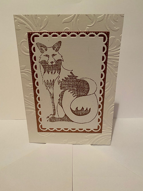 Handmade Fox Greeting Card