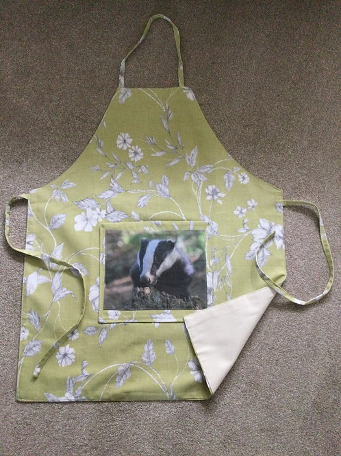 Handmade Apron with badger photo
