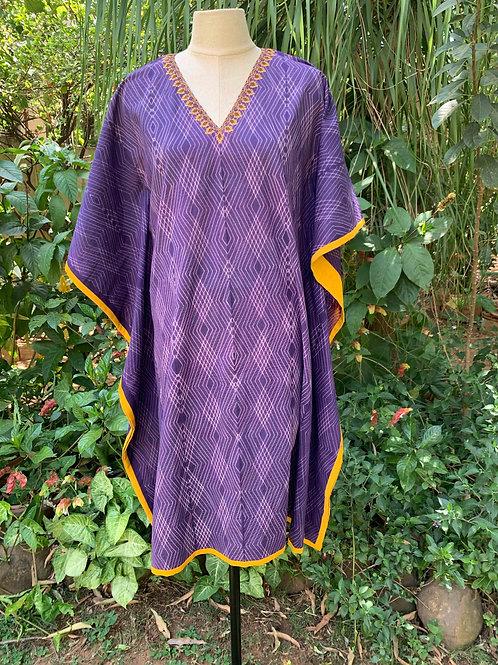 Purple Shibori Kaftan