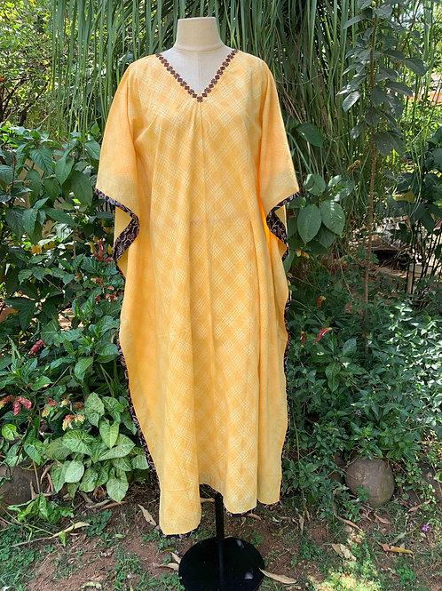 Yellow Shibori Kaftan