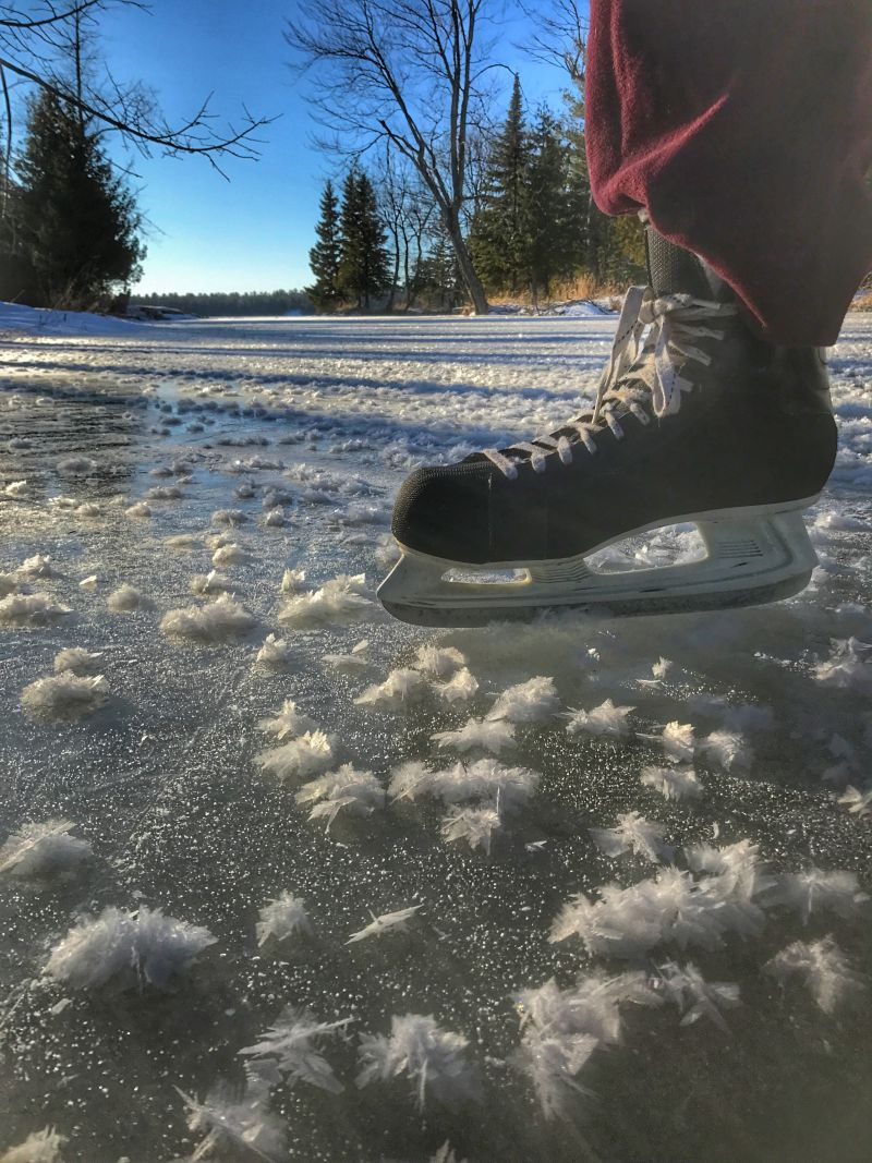Skating on the creek