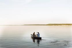 Lake Kagawong canoeing