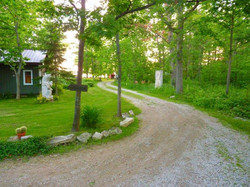 Driveway to cottages