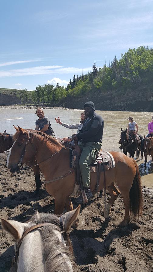 Horseback at John Scott's ranch