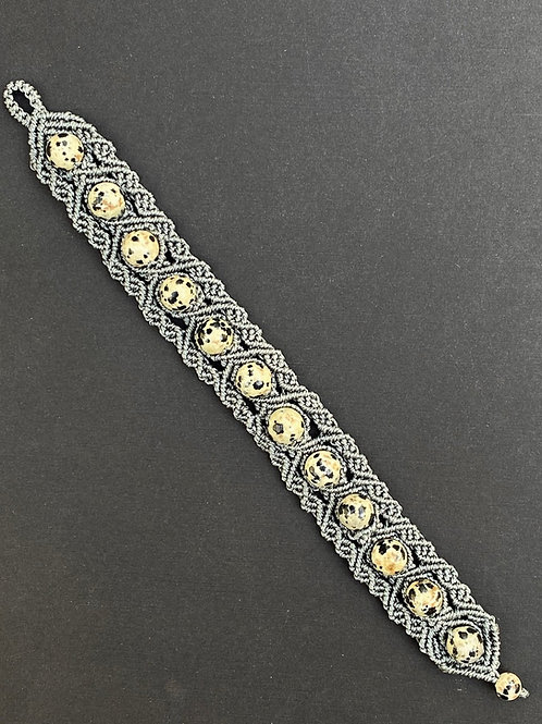 Grey Micromacrame Bracelet