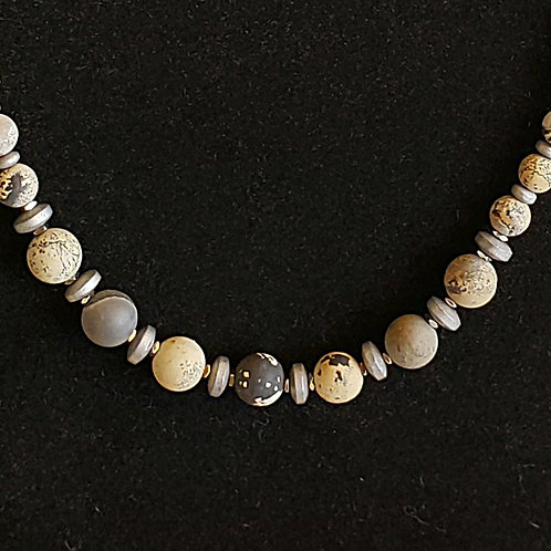 Natural Landscape Jasper Necklace