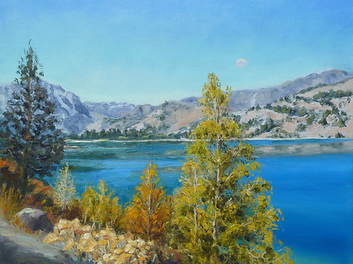 """""""June Lake"""" oil painting"""