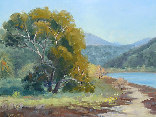 """Batiquitos Eucalyptus"" oil painting"