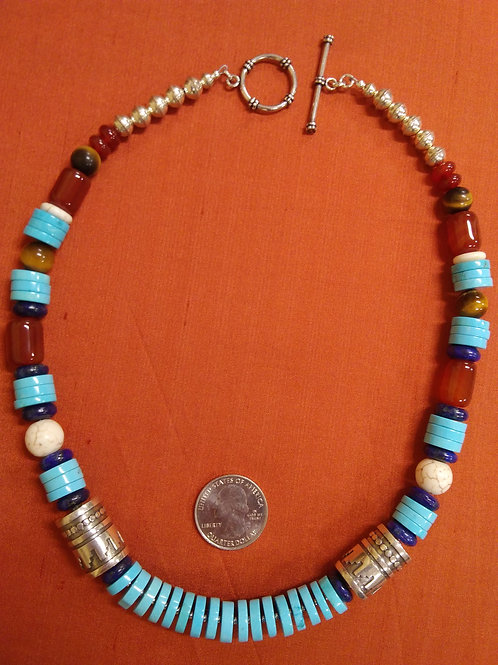 Homage necklace to Tommy Singer in turquoise