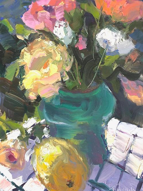 Flowers with Lemon