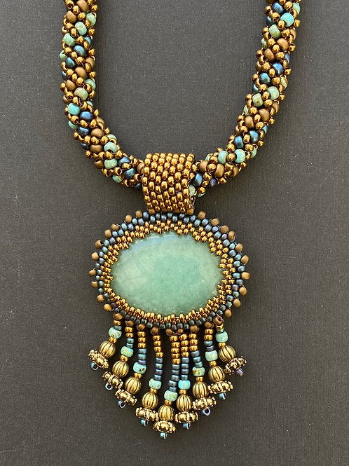 Blue & green necklace