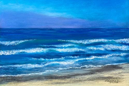 Ponto Beach Plein Air Soft Pastel