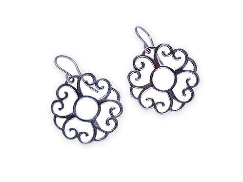 Tangiers jumbo heart earrings