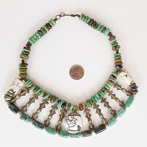 Contemporary Naga design collar necklace