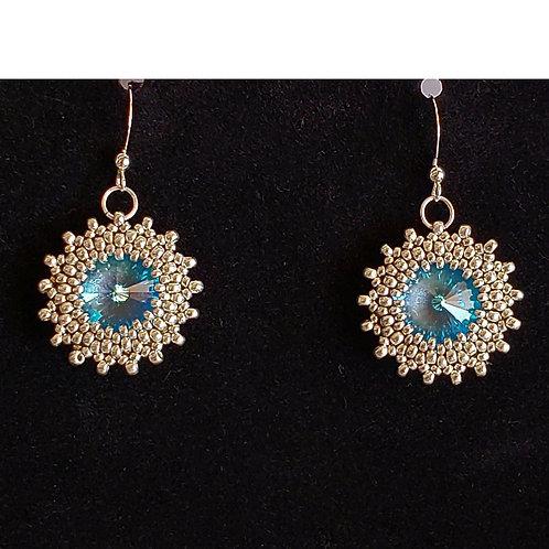 Light Sapphire Swarovski Earrings