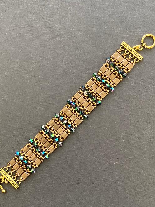 Bronze & green bracelet