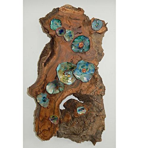 Copper Fold Formed Flowers