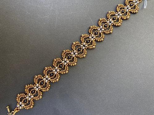 Lacy gold bracelet