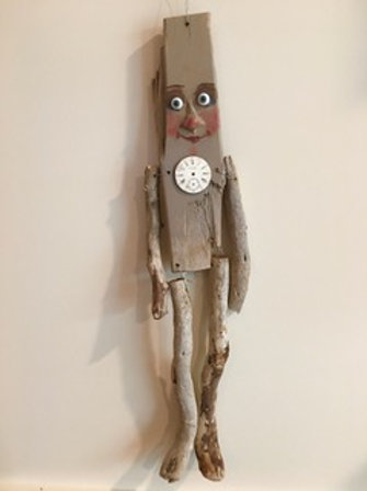 Gray Stick Man with Dial