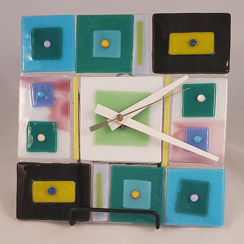 "Mid Century Mod ""Square Time"" Clock"