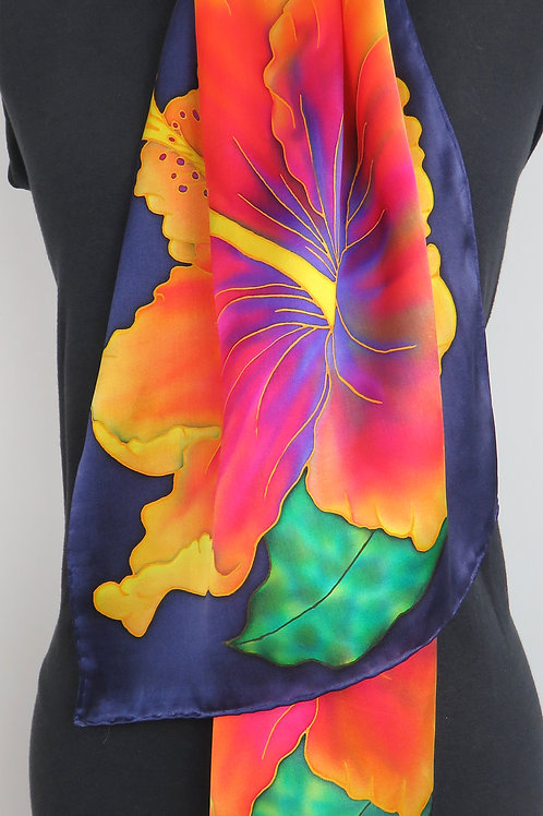 Hibiscus Silk Scarf