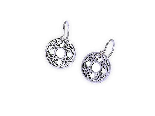 Tangiers mini circle earring