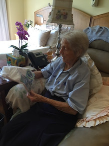 Granny buys Angela a be happy bonhappi-T, happy that she is feeding a mouth for a month