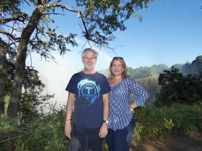 Gavin in his Africa smiles bonhappi-T at Victoria Falls