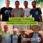 4 bonhappi-Ts in Mauritius provide meals for 4 people for a month