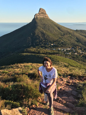Peta walking in Cape Town, South Africa