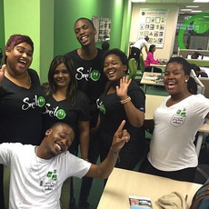 the Ignition Group in especially branded bonhappi-T shirts, all smiles