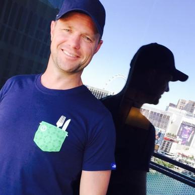 Jason in his bonhappi-T mock pocket in Las Vegas