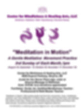 FLYER3-Meditation in Motion - 3rd Sunday